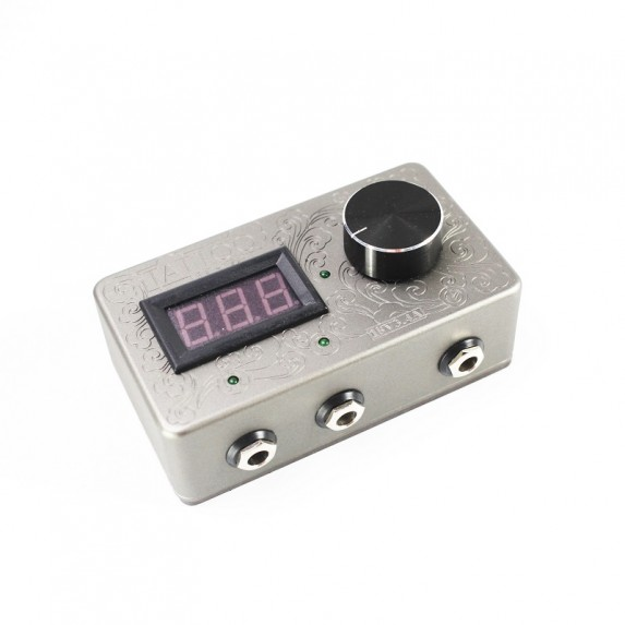 3.4A Carved Flowers Dual Tattoo Power Supply
